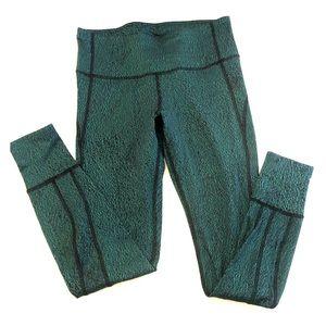 Green Lululemon high waisted leggings
